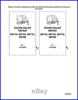 New Holland Br740 Br750 Br770 Br780 Round Balers Complete Service Manual
