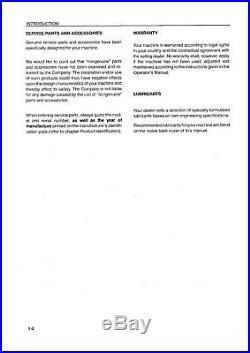 New Holland D1010 D1210 4860 4880 Baler Operators Manual