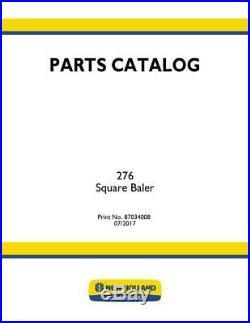 New Holland Part`s Catalog 276 Square Baler Parts Catalog