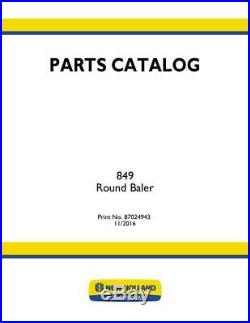 New Holland Pc 849 Round Baler Parts Catalog