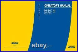 New Holland Roll Belt 450 460 Round Baler Operator`s Manual