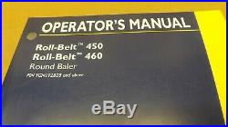 New Holland Roll Belt 450 460 Round Baler Operators Manual from YGN192828