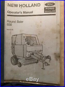 New Holland Round Baler 650 RB650 Operators Manual