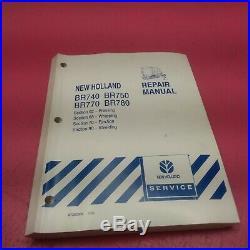 New Holland Round Baler Repair Manual Br740, Br750, Br770, Br780 See Belowlt293