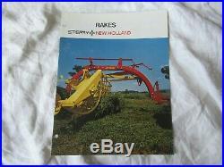 New Holland farm equipment baler tractor brochure lot of 12