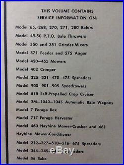 New Holland vol. 3 Service Repair Shop Manual Baler Mower Spreader Crimper Rake