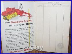 Vintage New Holland NH Baling Record Book 1956 PA Hay Super 66 77 Baler 55 Rake